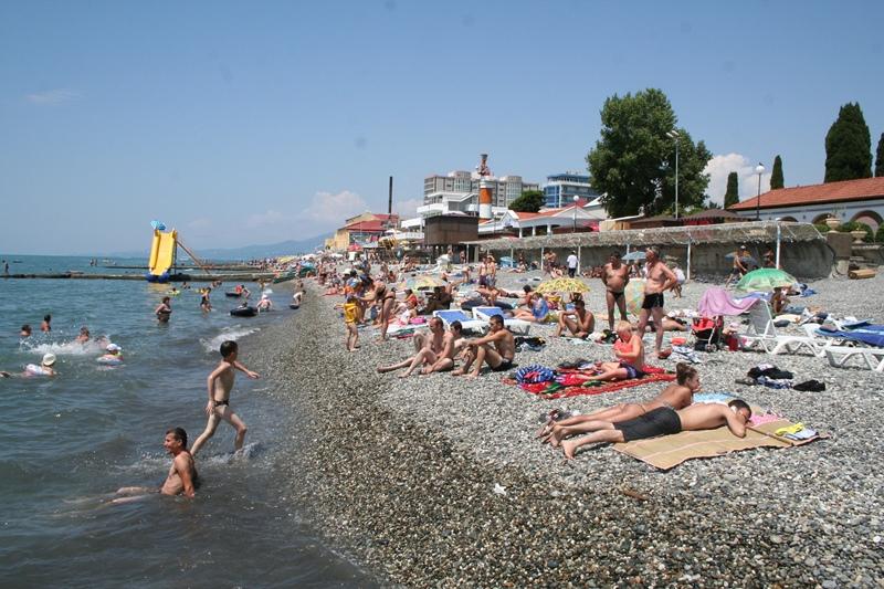 Пляж бестужева в адлере фото